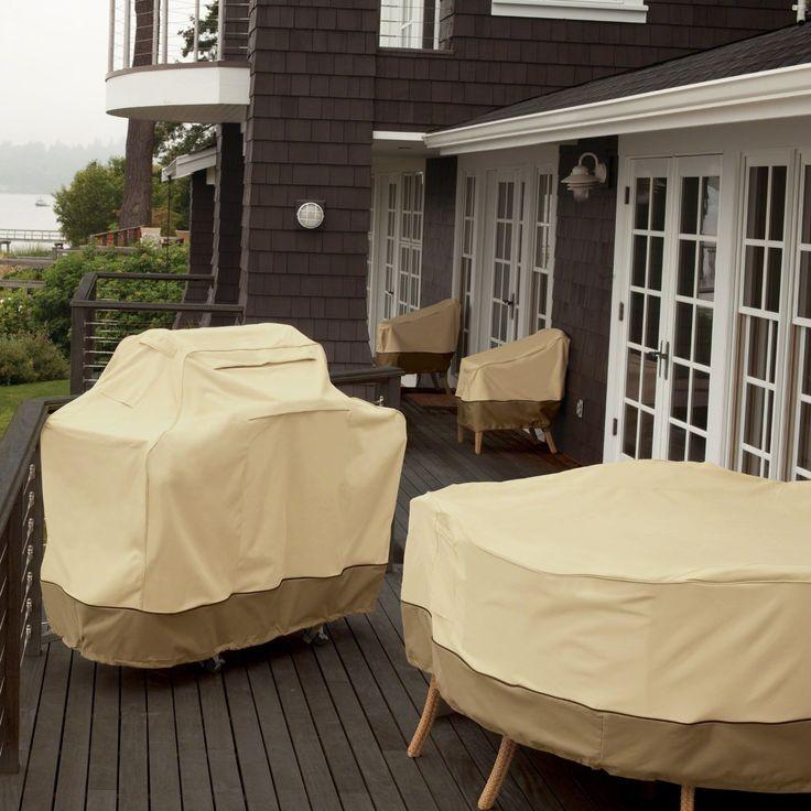 veranda deep patio loveseat cover xlarge light pebble classic accessories