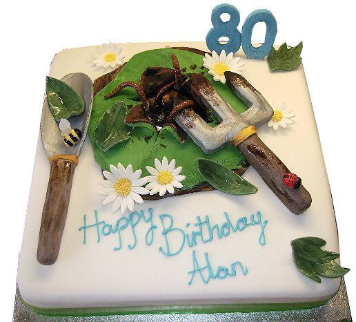 Cakes for the gardeners birthday specialised celebration for Gardening 80th birthday cake