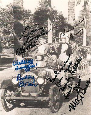 Beverly Hillbillies Cast Signed Photo w All 4 Stars Ebson Ryan Baer Douglas