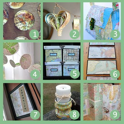 Things to Make With MapsCrafts Ideas, Maps Crafts, Map Crafts, Maps Projects, Crafts Projects, Craft Projects, Projects Ideas, Maps Ideas, Maps Maps