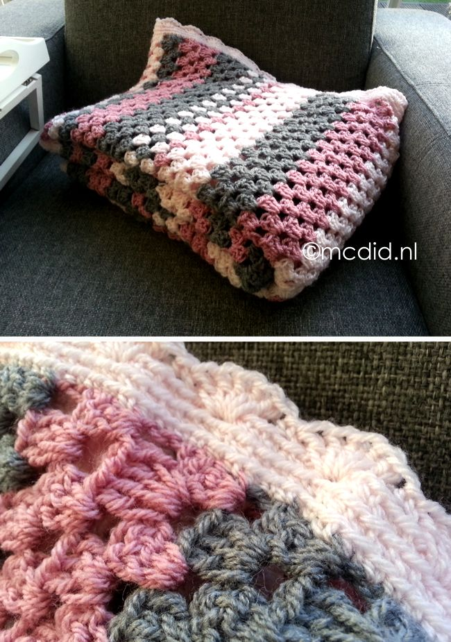granny stripes blanket. #crochet