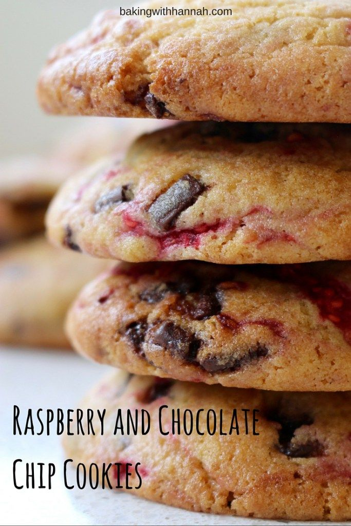 Raspberry and Chocolate Chip Cookies.  Raspberries and chocolate are a pair made in heaven! Check out the recipe.
