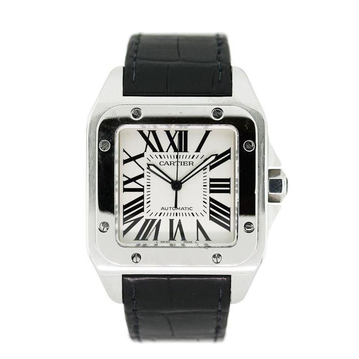 Cartier Santos 100 XL! £5,999.50 Blowabag.com #Cartier #Watches #WatchPorn #Blowabag