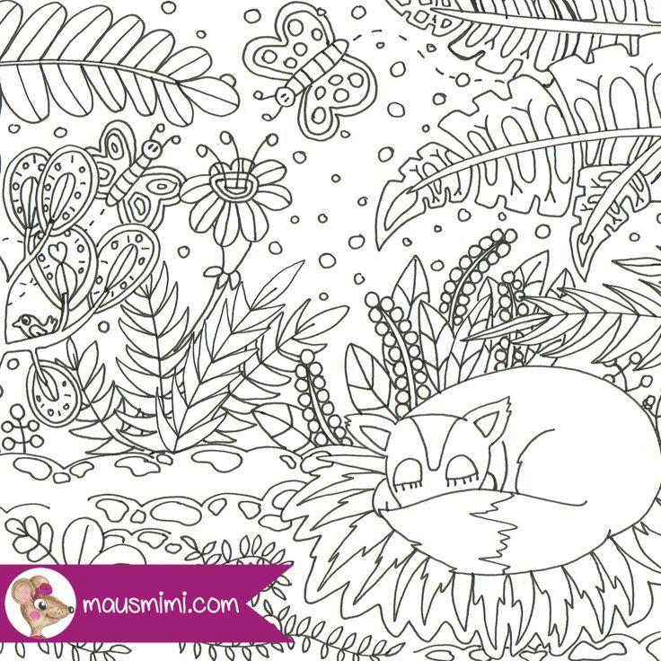 Ausmalbilder Kinder Fuchs: 17 Best Ideas About Blumen Ausmalbilder On Pinterest