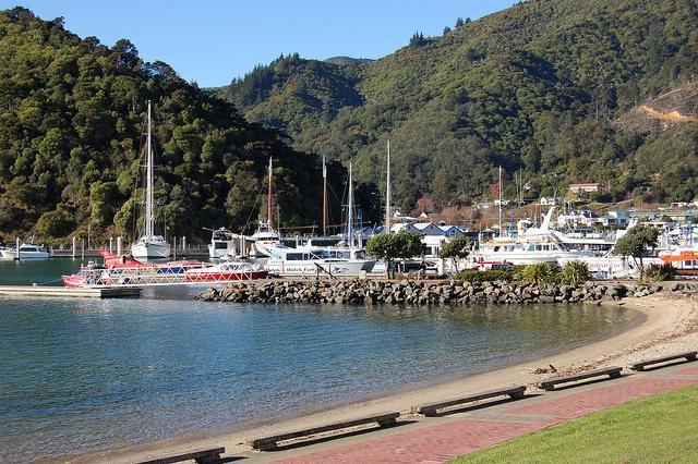Picton Harbor, Picton New Zealand