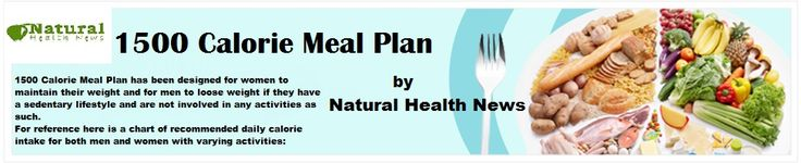 1500 Calorie Meal Plan A Healthy Diet Plan To Lose Weight