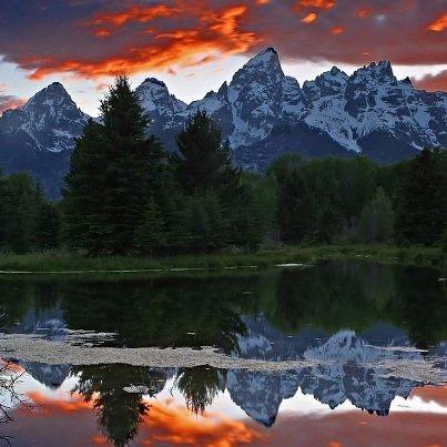 Tramonto nel Parco Nazionale del Grand Teton - Wyoming - USA