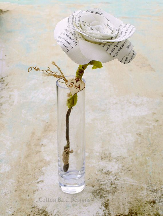 """Anniversary Gift Poem Flower """"I carry your herat"""" by E.E. Cummings by CottonBirdDesigns"""