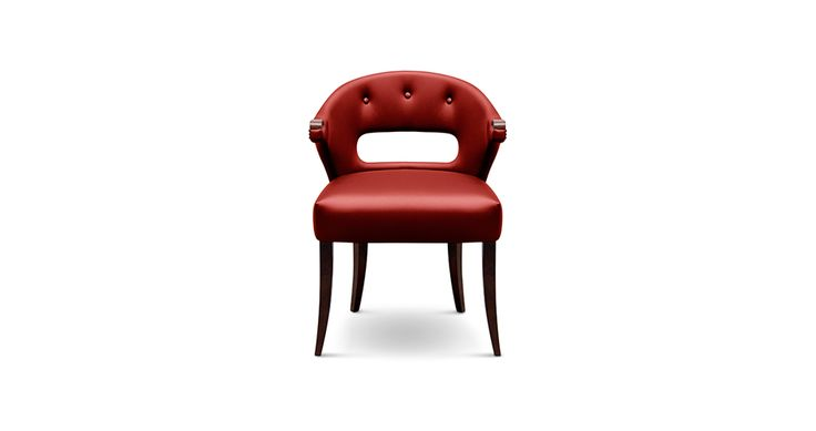 NANOOK Dining Room Chair Mid Century Modern Design by @brabbu  brings the strength of a myth to a dining room set. #livingroomchairs  #diningroomchairs #redchair upholstered dining chairs, modern chairs ideas, upholstered chairs | See more at http://modernchairs.eu