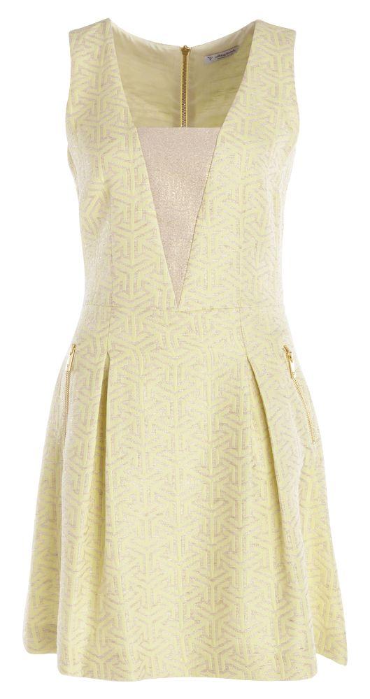 Talking french kleed geel voor dames online bij Deleye.be & BeKult