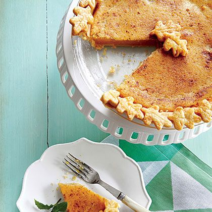 Browned Butter Chess Pie | For a pretty presentation, prepare a second recipe of the piecrust and cut out shapes with a small cookie cutter. Attach them to the edge of the crust with egg wash, and then bake and fill as directed.