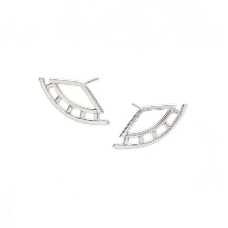 Silver weave earrings   Dear Rae   Online Shop