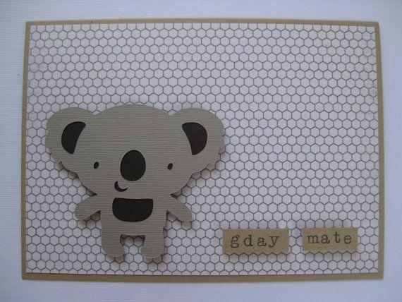 G'Day Mate Koala Card by littlepiggypants on Etsy, $3.50