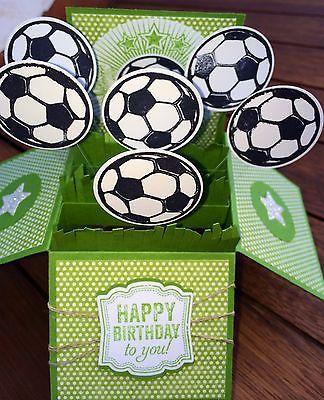 Stampin Up Handmade Card Happy Birthday Soccer Fans | eBay