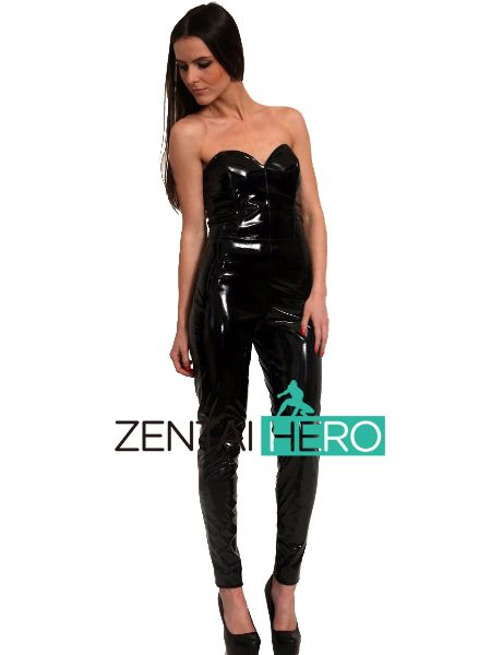 >> Click to Buy << ZentaiHero Sexy Black Sweatheart PVC Catsuit Women Party Zentai Catsuits For Events CPV1147 #Affiliate