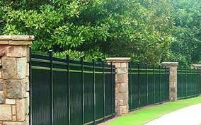 Iron fences can have spear tops placed on the to keep a burglar or trespasser out. The smoothness of the metal is also hard to climb. Even though the pieces appear thin, they are very string. Most wrought iron fencing is black. It is often used in backyards, around gardens, or in the pool area.