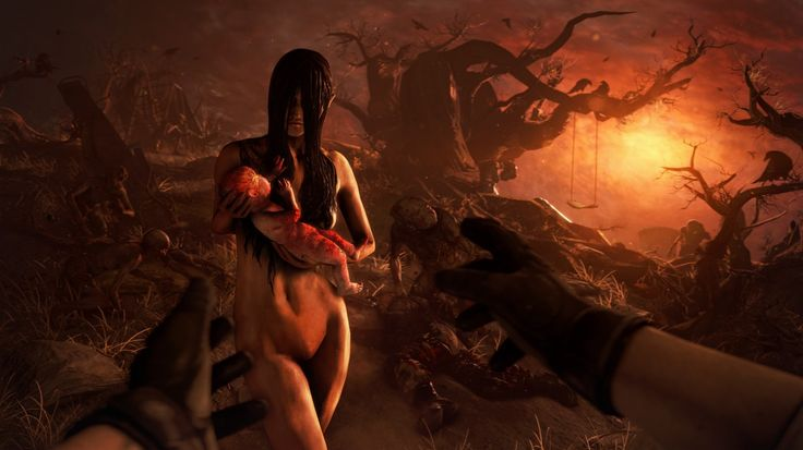 Download wallpaper fear, death, woman, baby, fps, alma wade, psychic, ghost, games resolution 1366x768