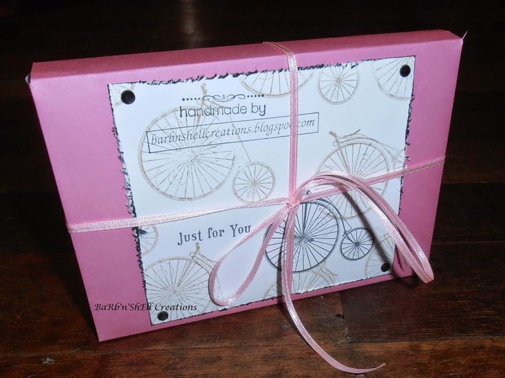BaRb'n'ShEllcreations  - Stampin Up Bicycle images - box for cards created by Shell for Cardiac Challenge