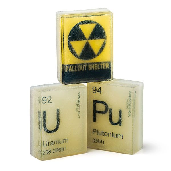 Glow-in-the-Dark nuclear 3 pack element soaps