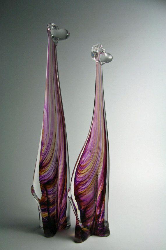 Glass Giraffe  Giraffe Sculpture  Handmade by KennethMarineGlass, $45.00