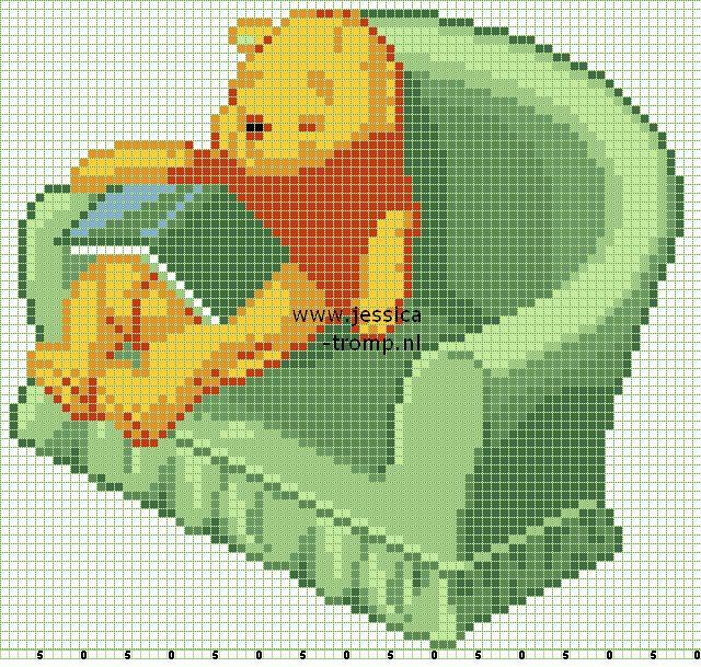 borduren kruissteekpatronen cross-stitching 9 stitching chart (280)