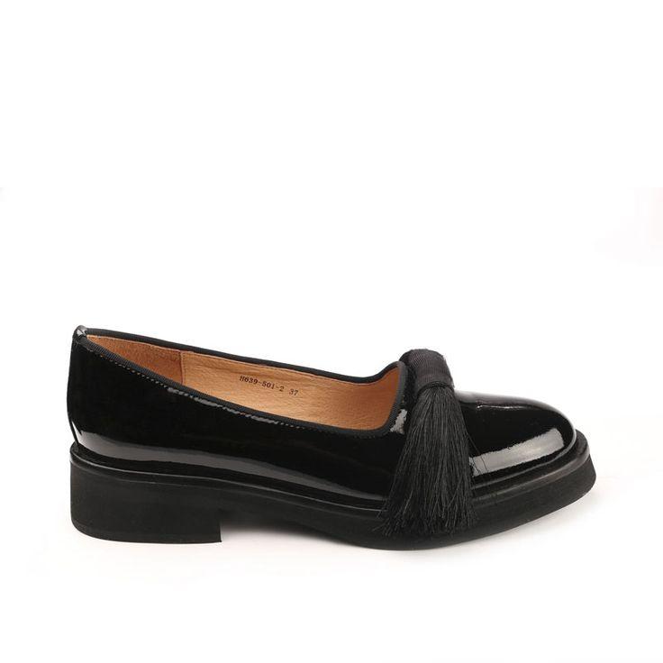 Туфли женские купить черный лакированная кожа - H639-501-2