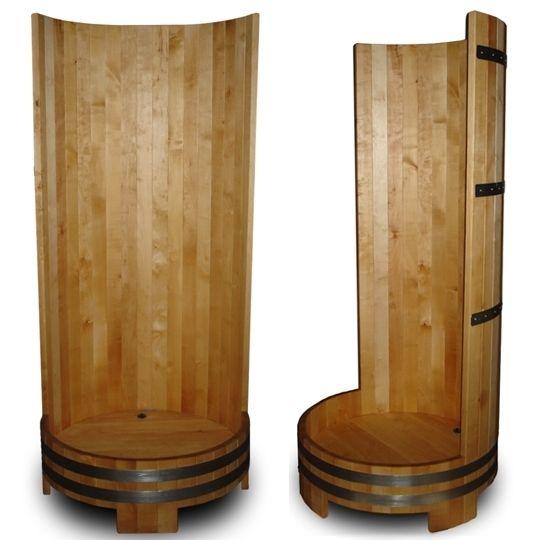 Деревянная душевая кабина из дуба  (для бани)