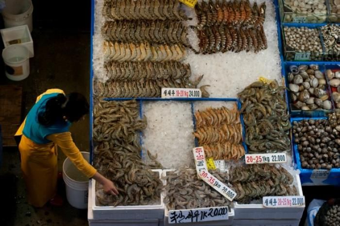 3. Noryangjin Fish Market: Seoul, South Korea The Seoul Fish Market is both a wholesale fish market and a cultural attraction. More than 300 tons of seafood from South Korea arrives at this market every day, and visitors who arrive early in the morning can watch the fish auction, which occurs every day except Sundays and holidays. Some of the exotic seafood items, like the giant squid tentacles, are sold for hundreds of dollars.