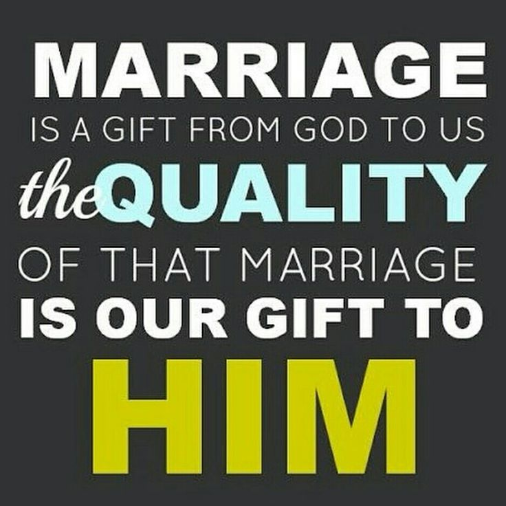 Good Morning! The Quality Of Many Marriages Are Poor