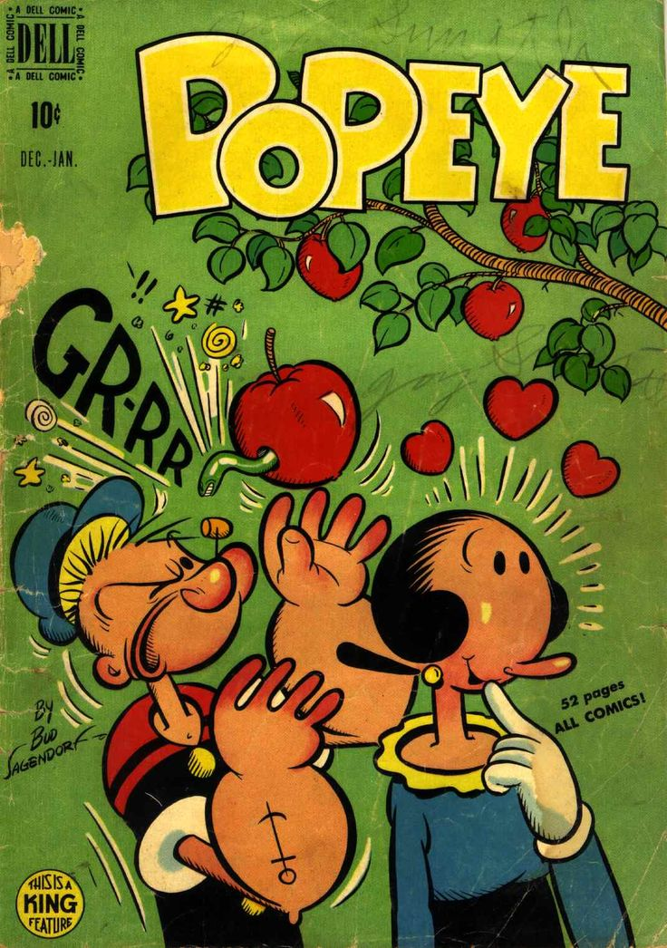 The Bristol Board — Covers from the first ten issues of Popeye by Bud...