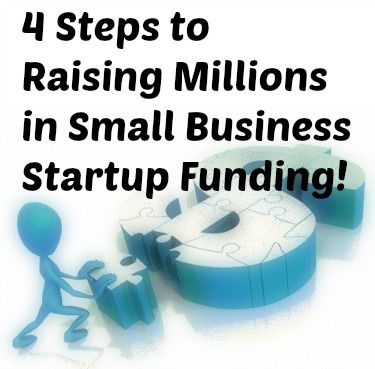 Take advantage of this 4-step process to raise millions in #startup funding for your #smallbusiness!
