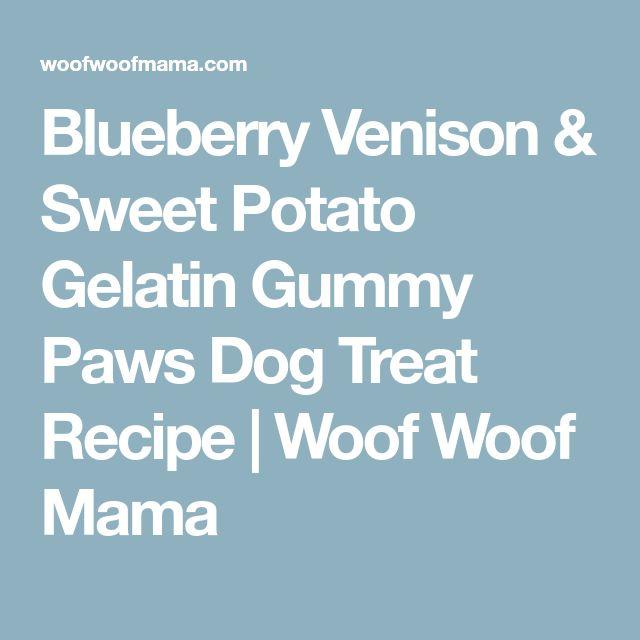 Blueberry Venison & Sweet Potato Gelatin Gummy Paws Dog Treat Recipe | Woof Woof Mama