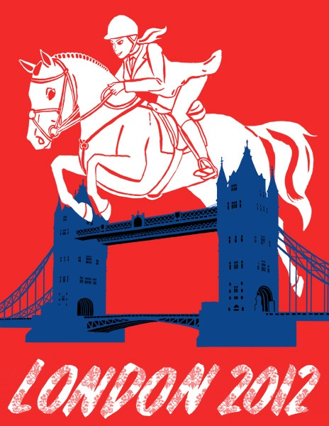 London 2012 poster by Kristin Acampora -- I am now the delighted owner of this print and it is so pretty in person. The red is ridiculous. (In a good way.)