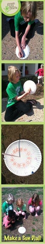 Looking for a way to enjoy the warm summer weather? Create a Sun Dial! Its easy to create in just 3 simple steps.
