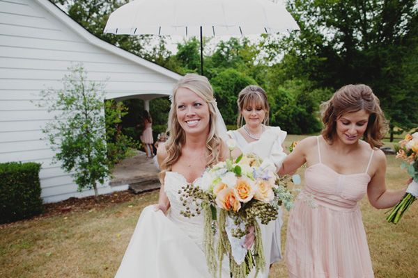 Wedding Superstition #3 - Rainy Days! // The Pink Bride Blog // Image courtesy of Dixie Pixel Photography.