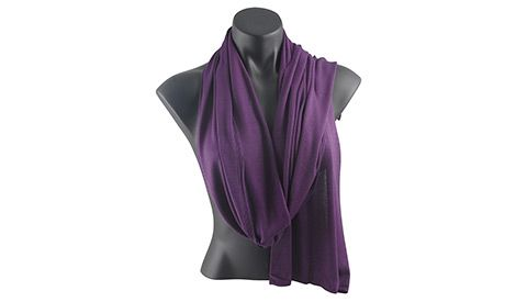 The elegance lies in the silky softness of this bamboo muffler. Find the purple goodness at newint.com.au/shop