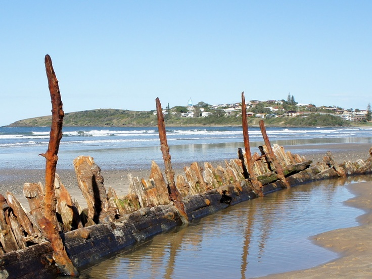Woolgoolga, NSW and the Buster exposed after storms
