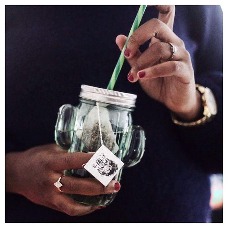 """C'est l'heure du thé pour @thecrazysoprane ! Et dans la jarre BABOU """"Cactus"""" à 2€, c'est tellement plus fun..."""