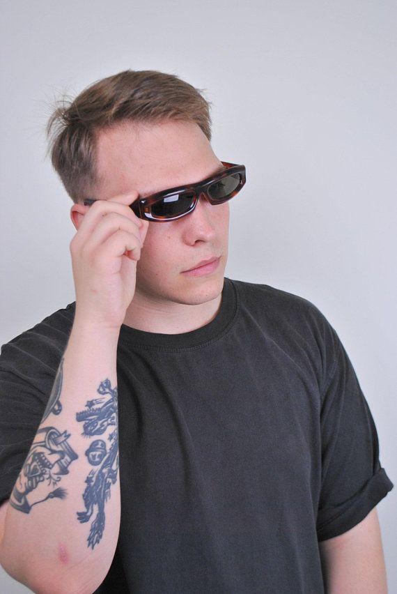 Vintage Sunglasses 90s Eyewear Festival Glasses Leopard Etsy Sunglasses Vintage Rave Accessories Sunglasses