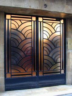 I like this pair of art deco doors, but I wonder if they ...