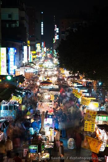 """""""Snake Alley"""" and Red Light District Night Market, Taipei, Taiwan"""