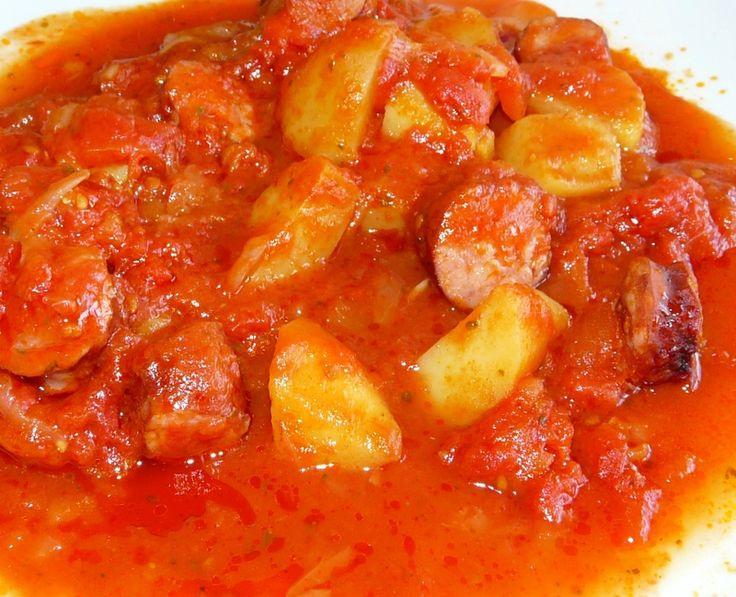 Rougail saucisses et pommes de terre - WW