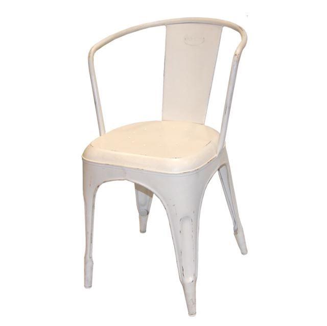 Stol antik hvid