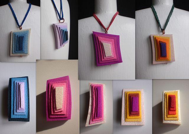 Polymer clay modern jewellery by disenyarte creaciones.