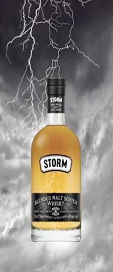 No matter what the weather is on your side today, you can still enjoy this Storm Blended Malt Scotch Whisky from one of our Vinexpo Asia-Pacific exhibitors, Lombard Scotch Whisky from UK. #Whisky