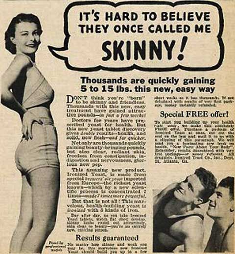 Vintage Weight Gain ads for Women (5); hard to believe this is real....how interesting!! xo
