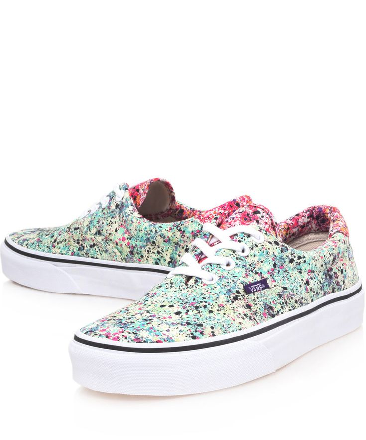 Vans x Liberty Art Fabrics Turquoise Speckle Liberty Print Era Trainers | Women's Shoes by Vans | Liberty.co.uk