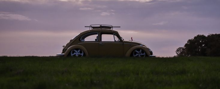 1972 yellow Volkswagen Beetle, Taken by Sophia Perkins.