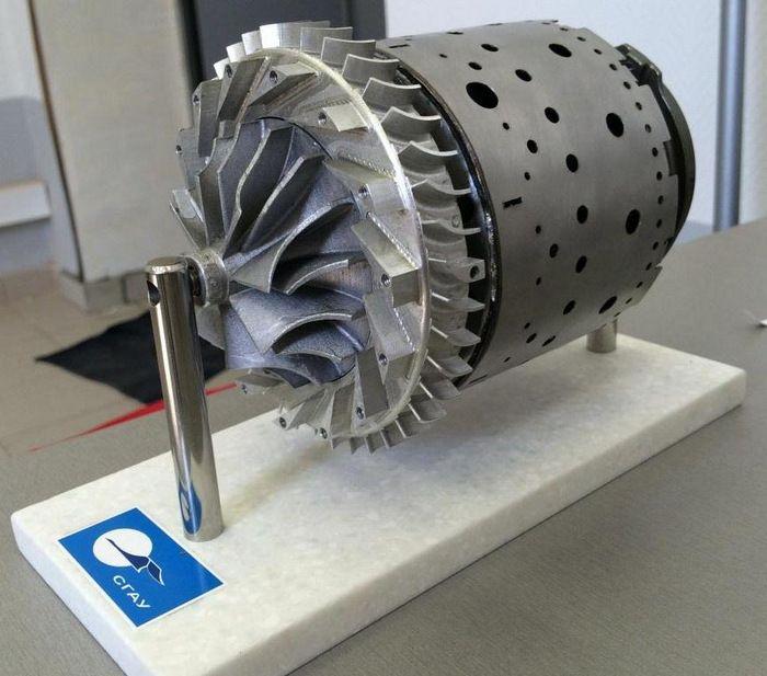 Turbina de gas por impresión 3D