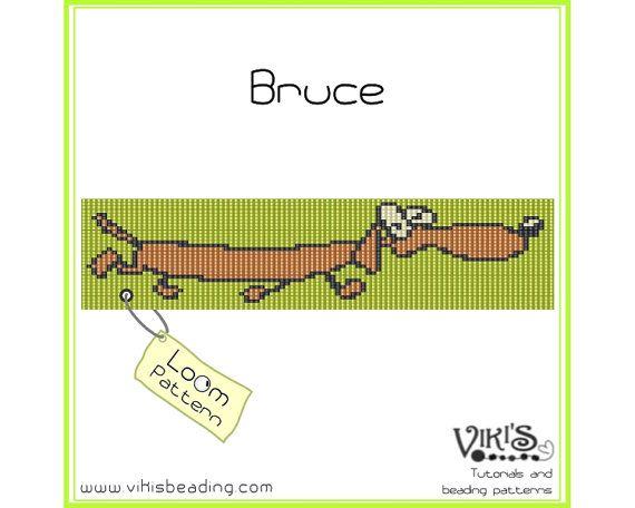 Bead Loom Pattern  Bruce   INSTANT by VikisBeadingPatterns on Etsy, $6.50